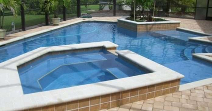 how to remove calcium deposits from swimming pool tiles