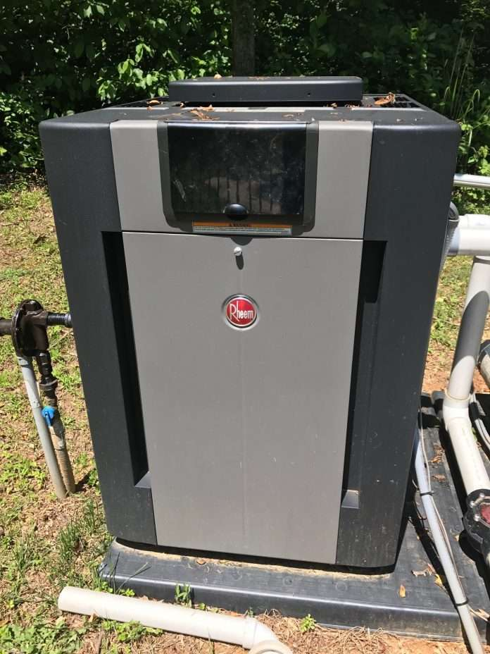 i have a rheem gas pool heater that is two years old when