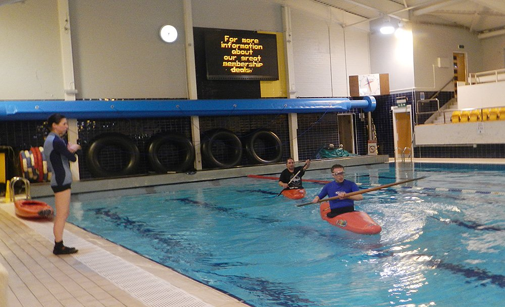 Kayak section pool sessions off to a good start. â Toward ...