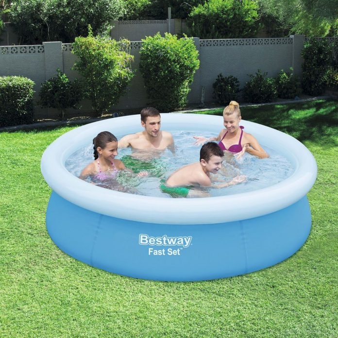 new 78 x 20 easy set above ground inflatable family