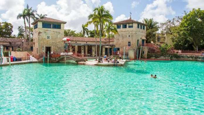 venetian pool reopens after nearly a year cbs miami